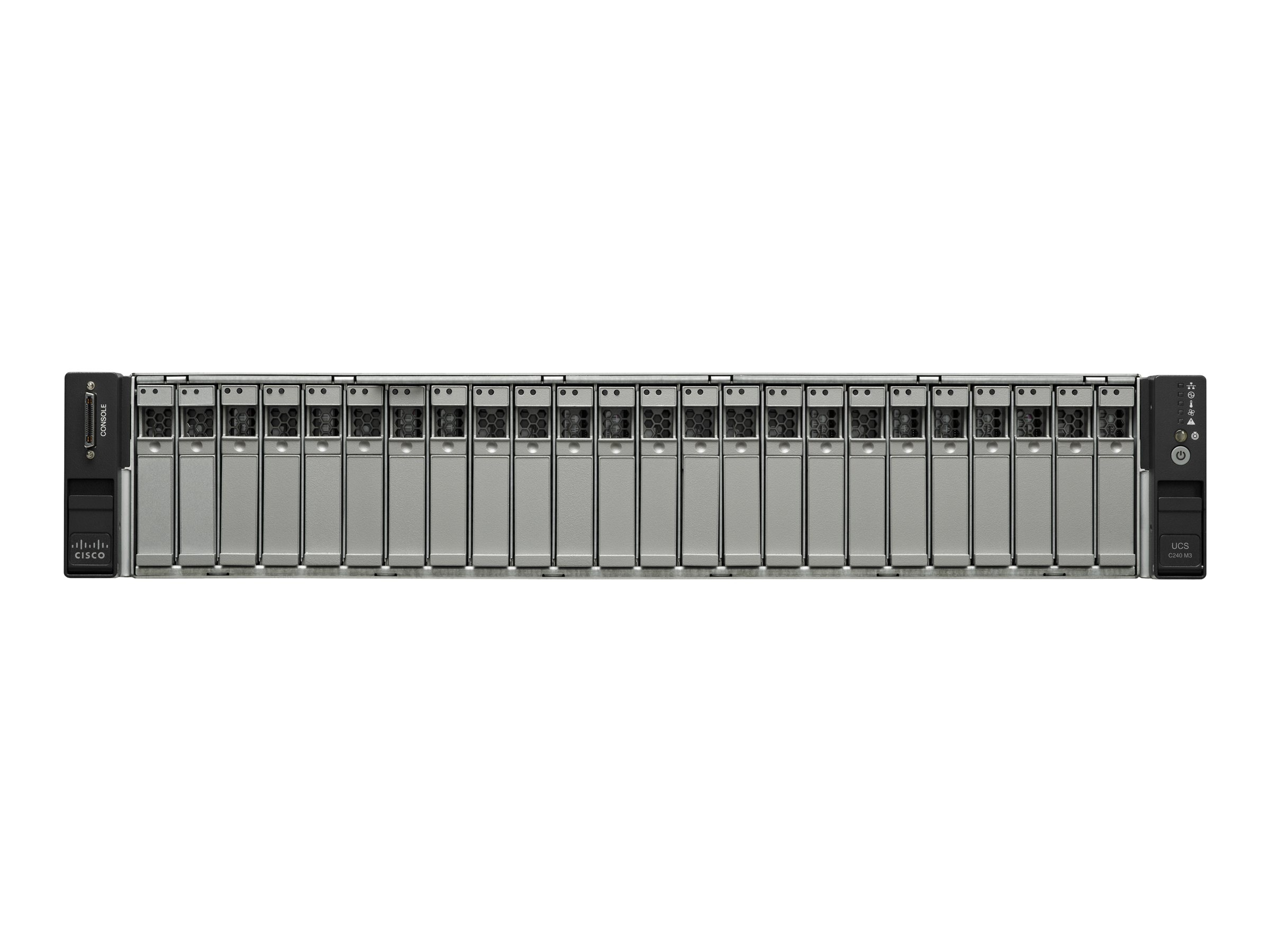 Cisco UCS C240 M3 2U RM (2x) Xeon 10C E5-2660 v2 2.2GHz 32GB 24x2.5 Bays 2x650W Rail Kit NoOS