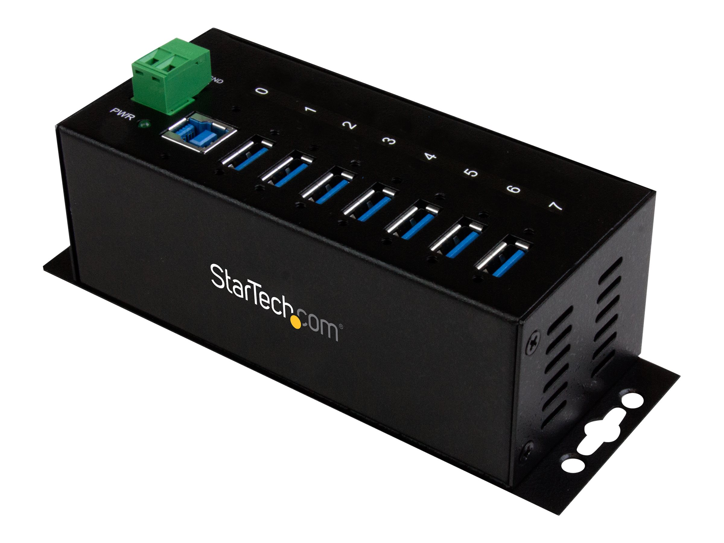 StarTech.com 7-Port Industrial Superspeed USB 3.0 Hub Mountable, ST7300USBME