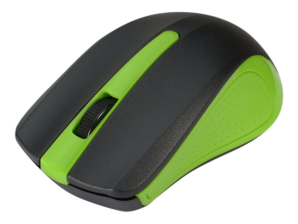 Siig Wireless 2.4GHz Optical Mouse w  Nano Receiver, Green, JK-WR0E12-S1