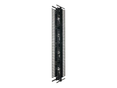 Panduit PatchRunner Vertical Cable Manager, 42U x 12w Dual Sided w  (4) Slack Spools