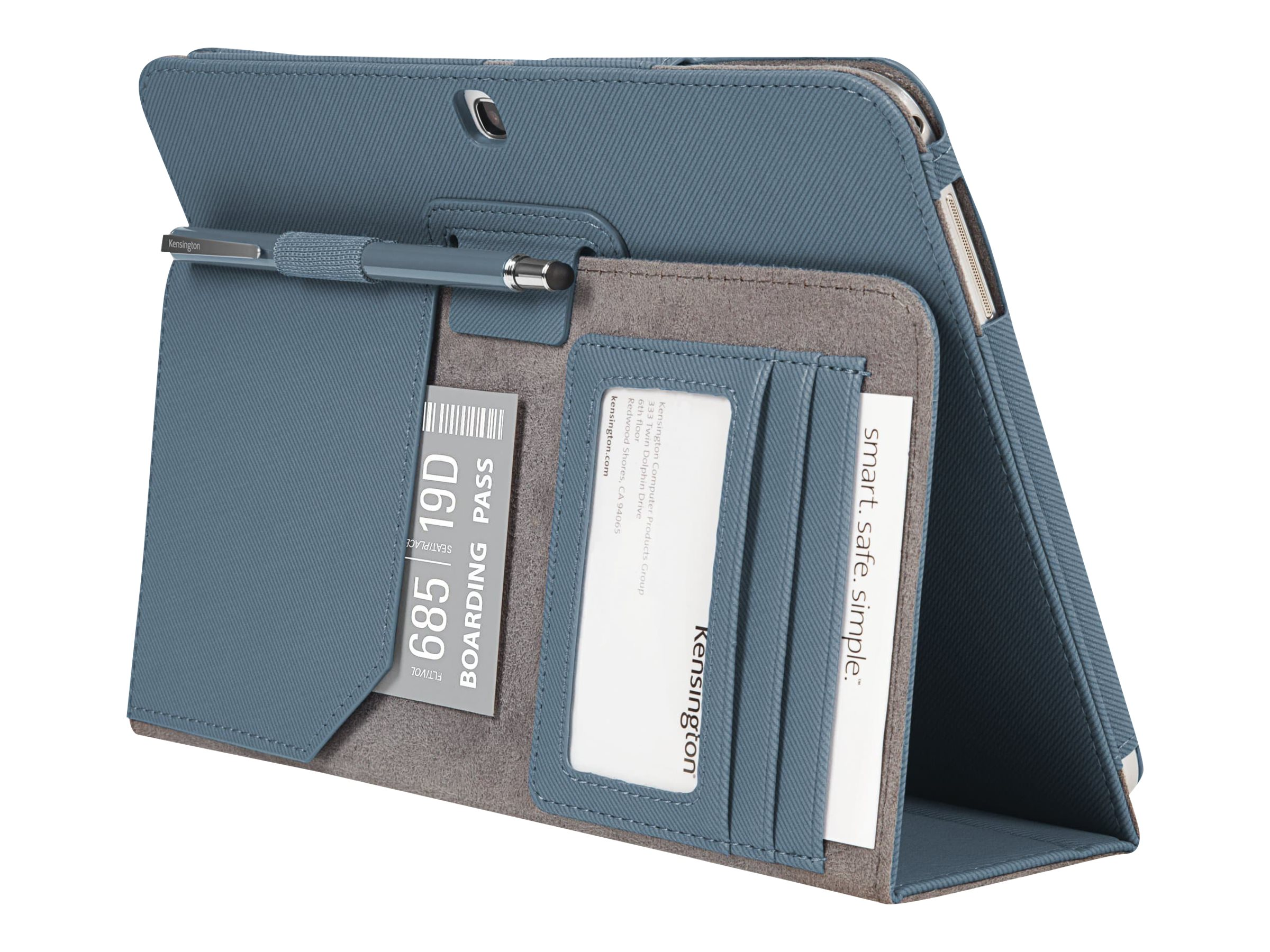 Kensington Comercio Soft Folio Case & Stand for Galaxy Tab 3 10.1, Slate Gray, K97097WW