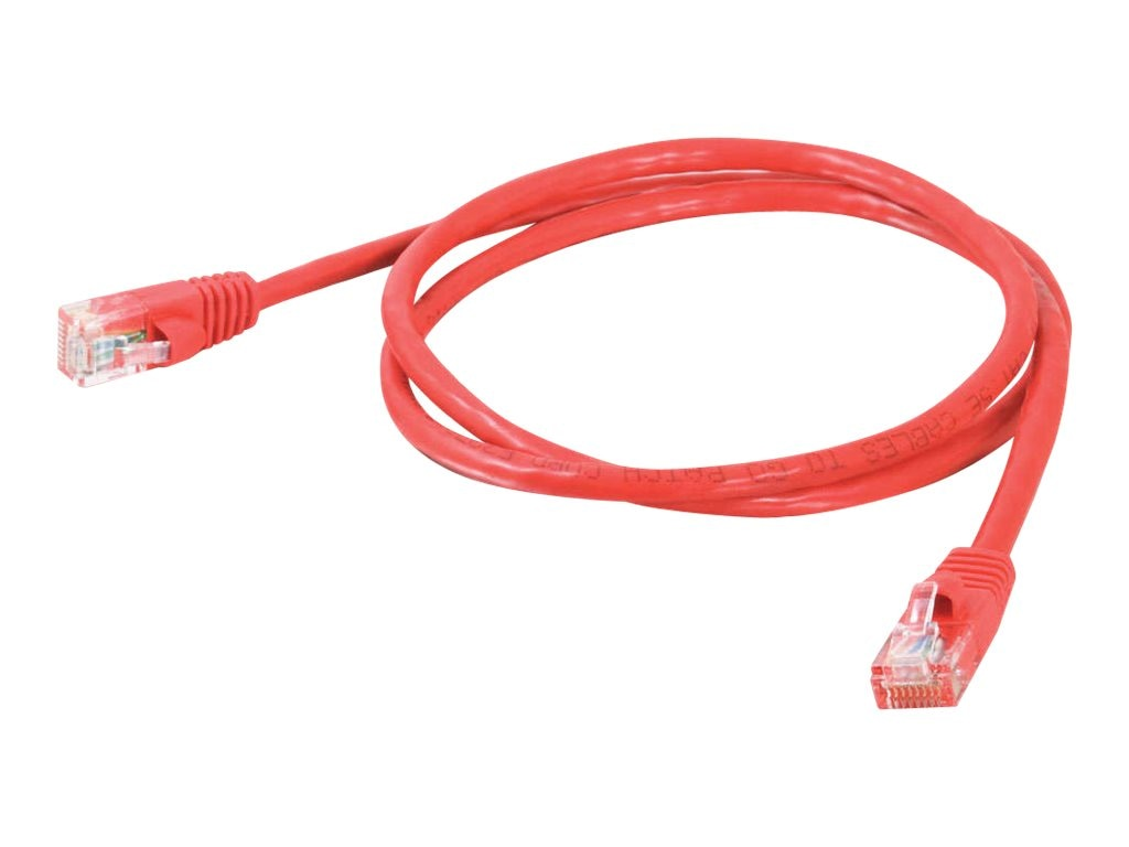 C2G Cat5e Snagless Unshielded (UTP) Network Patch Cable - Red, 9ft