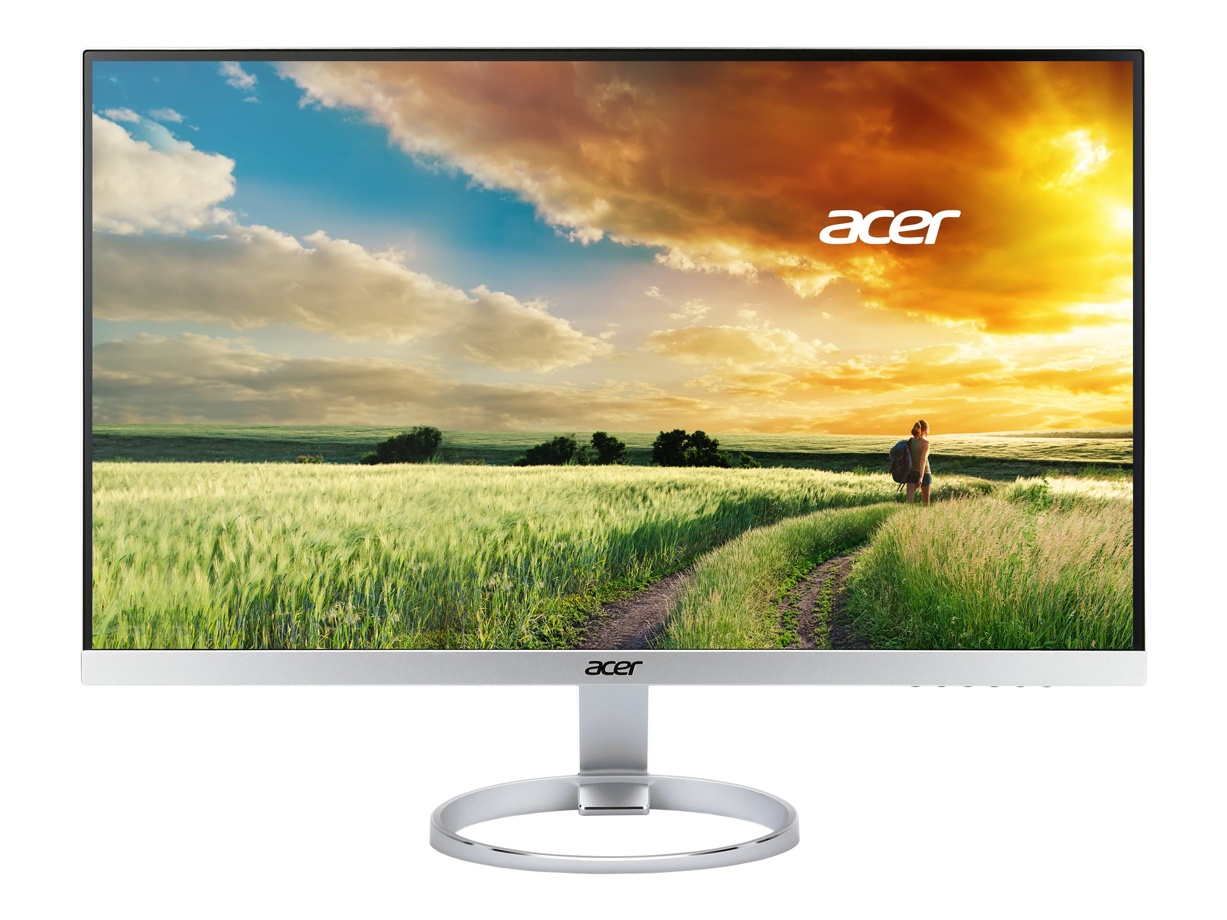 Acer 25 H257HU SMIDPX WQHD LED-LCD IPS Monitor, Silver Black