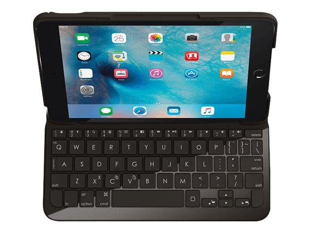 Logitech Focus Protective Case with Integrated Keyboard for iPad Mini 4, Black, 920-007953
