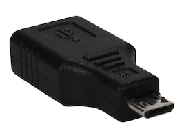 QVS Micro USB to USB Type A M F OTG Adapter, Black, CC2218X-MFA, 31628407, Adapters & Port Converters