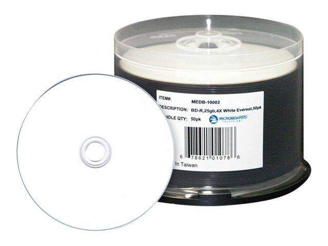Microboards 8.5GB DVD+R D Everest Hub Printable Media (50 Disc Spindle), MEDD-10005, 17540003, DVD Media