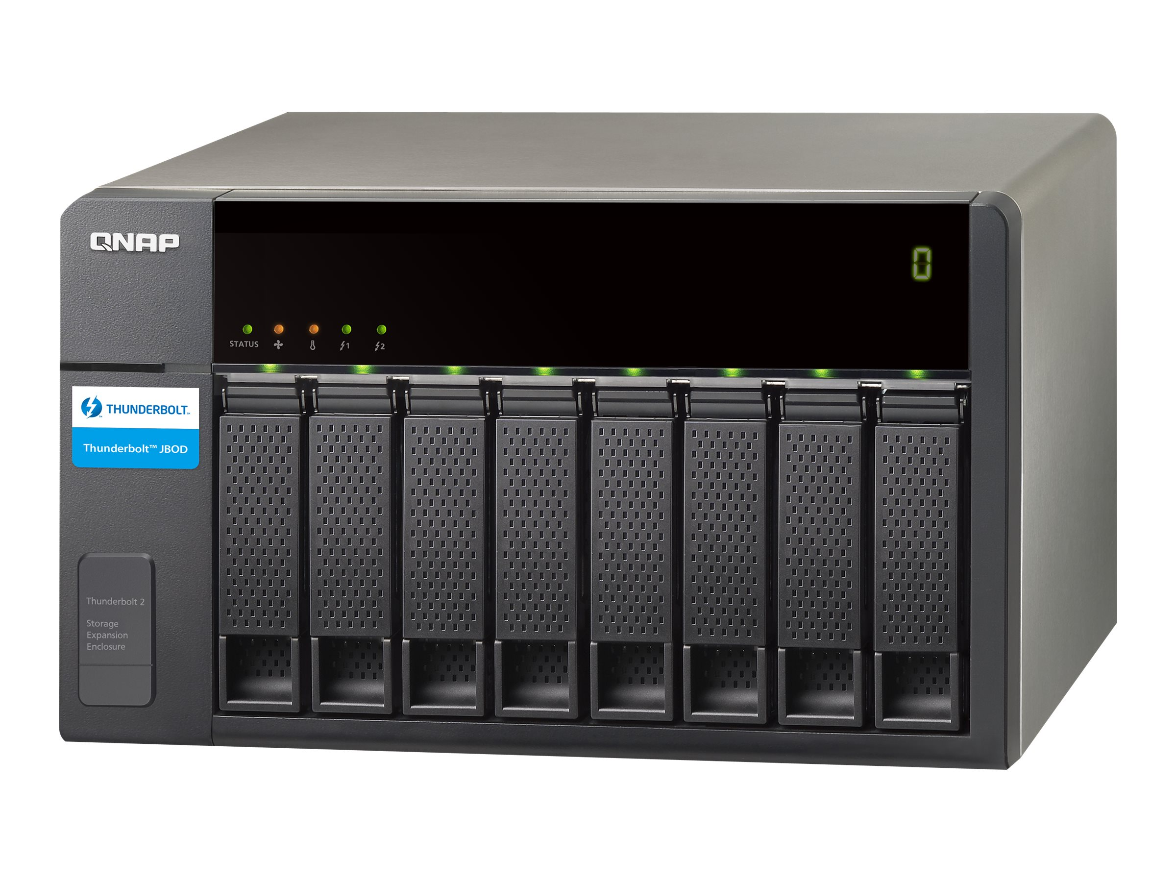 Qnap TVS871T Thunderbolt 2 8-Bay 2.5 3.5 2-port Serial Enclosure