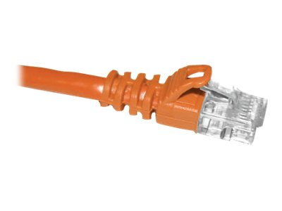 CP Technologies ClearLinks CAT6 Snagless Molded Patch Cable, Orange, 50ft