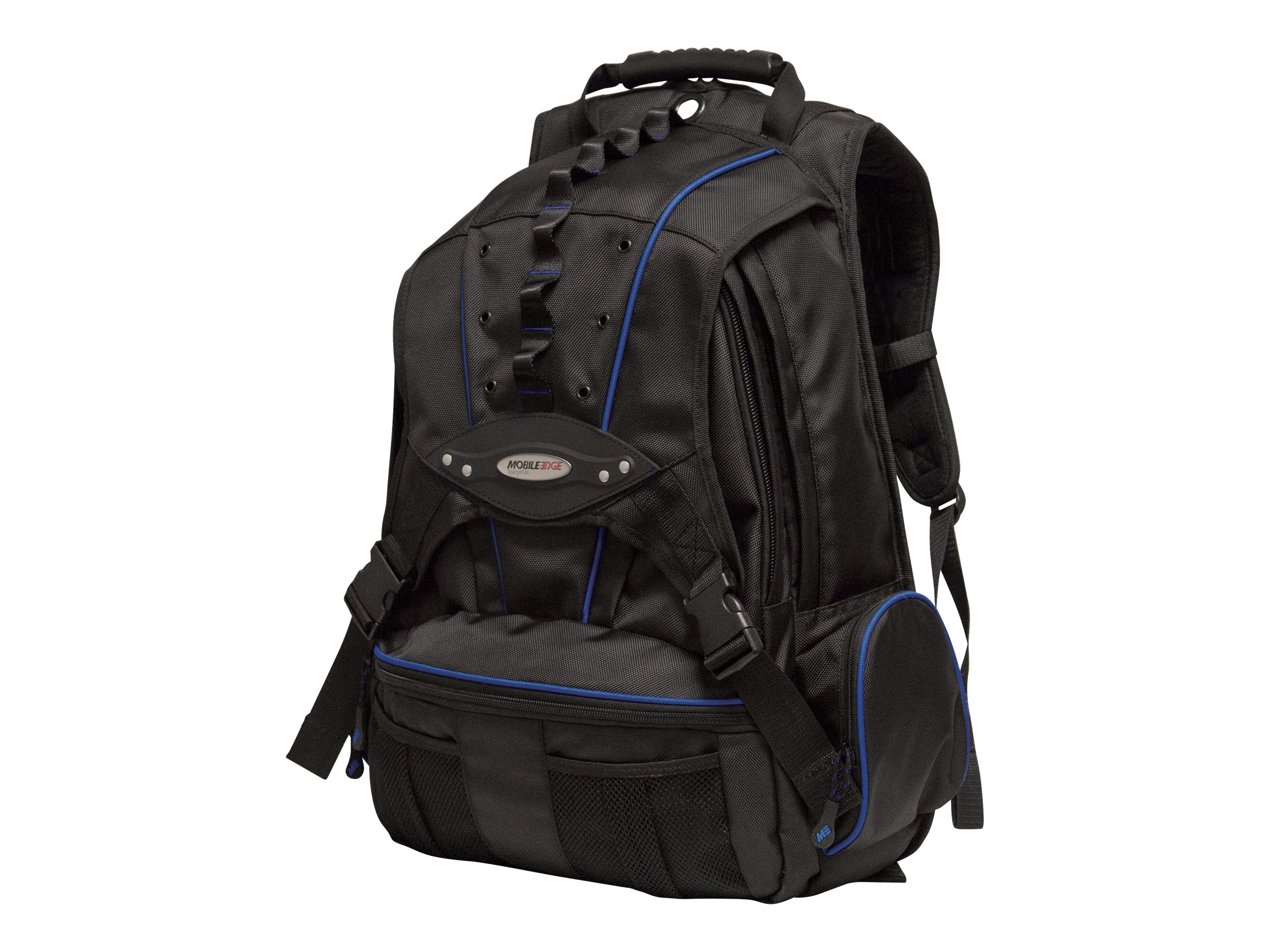 Mobile Edge 17.3 Premium Backpack, Navy Black, 1680D Ballistic Nylon, MEBPP3, 6101312, Carrying Cases - Notebook