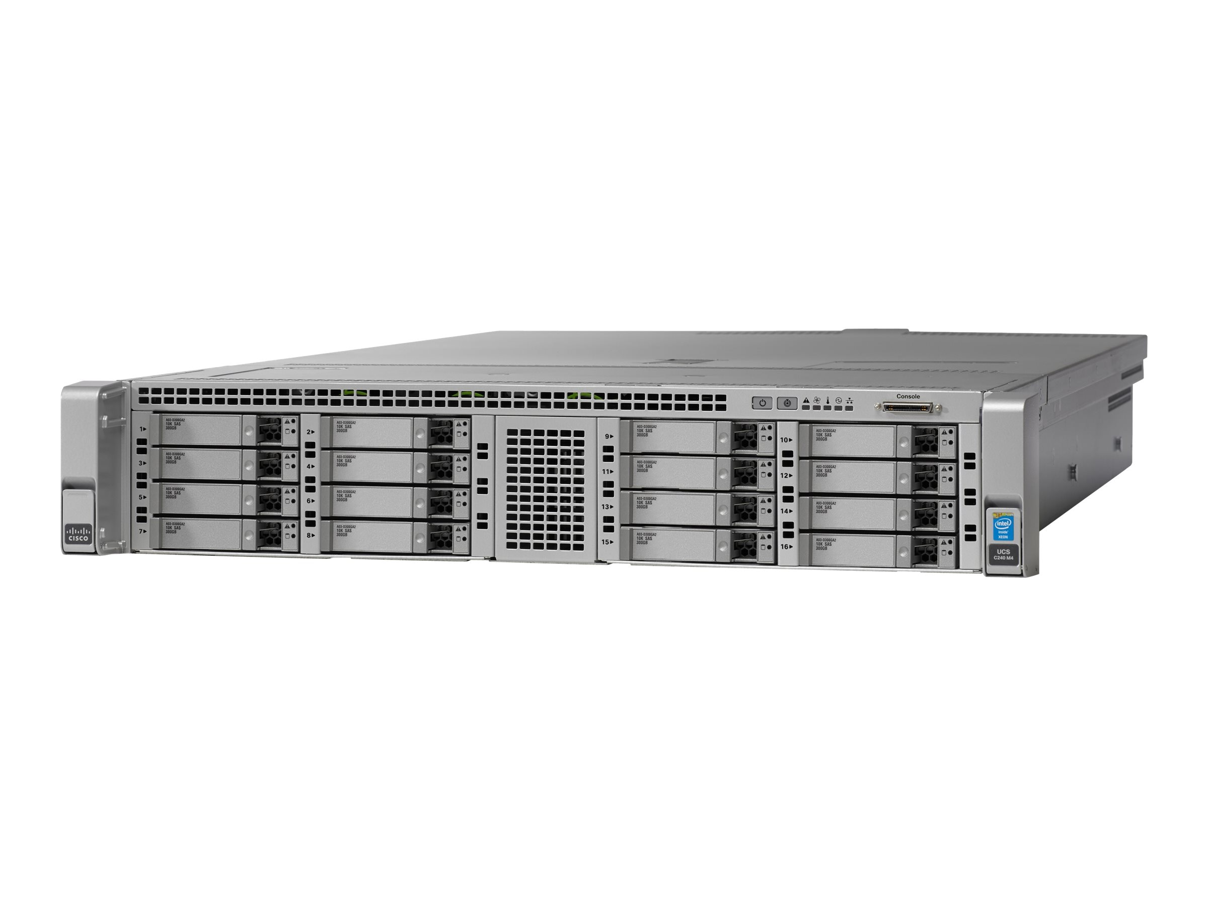 Cisco Barebones, UCS C240 M4 16xSFF without CPU, Memory, HDD, SSD, PCIe, Rail Kit, or Power Supply, UCSC-C240-M4S2-CH