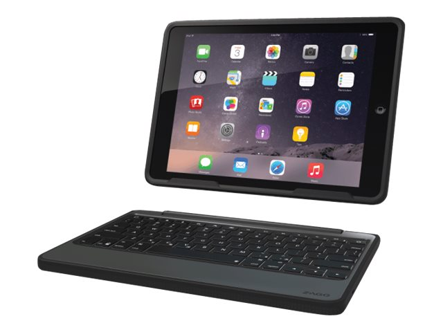Zagg Rugged Folio Keyboard Case for iPad Air, Black