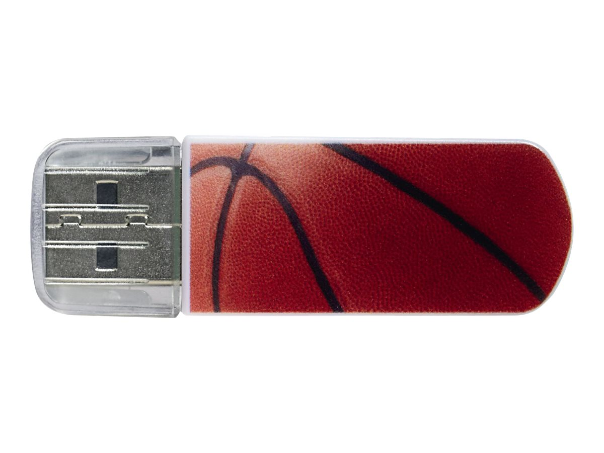 Verbatim 8GB Store 'n' Go Sports Edition Mini USB Drive, Basketball, 98507