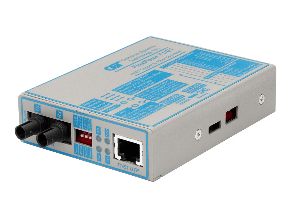 Omnitron Media Converter T1 E1 UTP Fibre, 4473-1, 234064, Network Transceivers