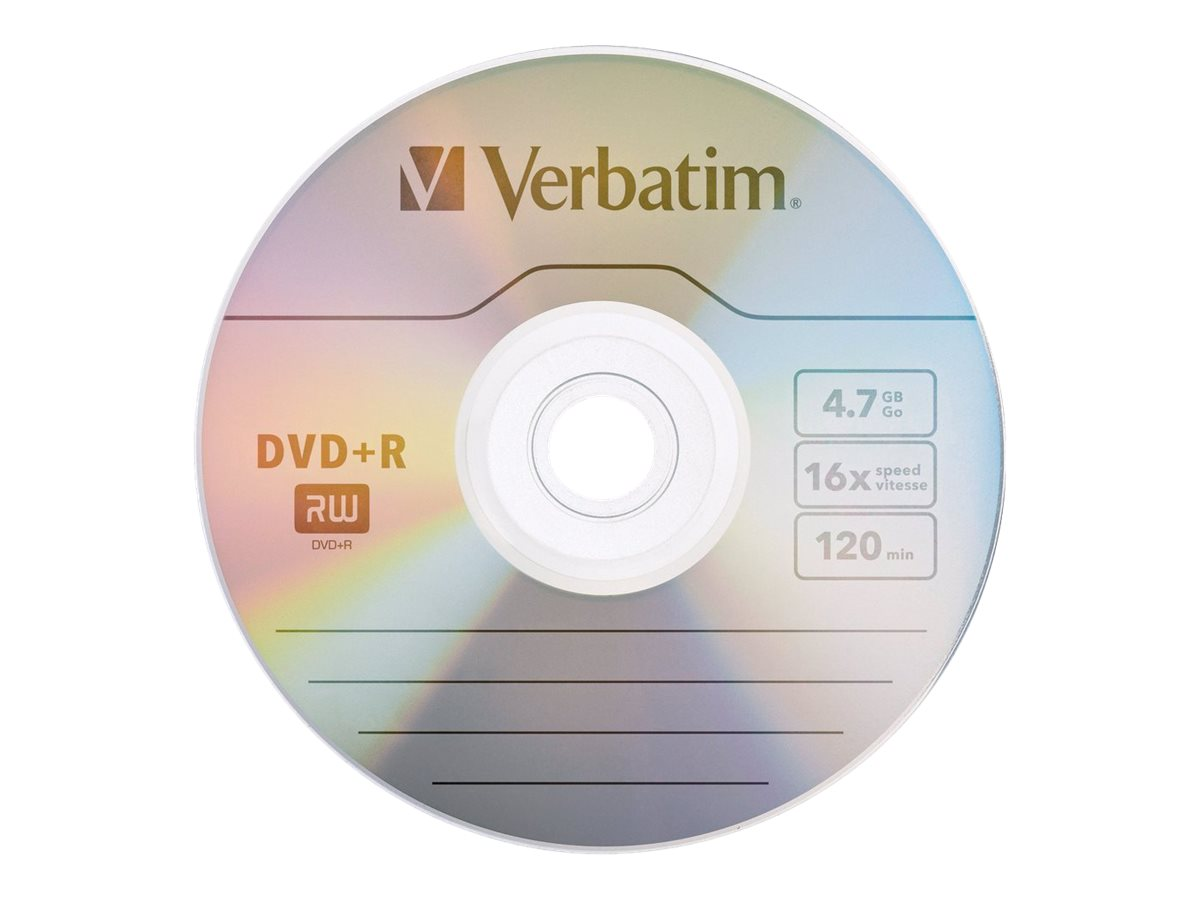 Verbatim 16x 4.7GB Branded Surface DVD+R Disc, 94916