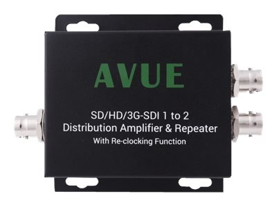 Avue SD HD 3G-SDI 1 to 2 Distribution Amplifier and Repeater, SDE-12RN