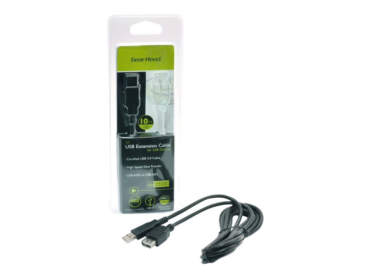 Gear Head USB 2.0 Extension Cable, 10ft