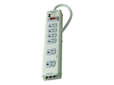 Belkin 6-Outlet Wall Mount Home Series Surge Suppressor, F9H620-06-MTL, 5613391, Surge Suppressors