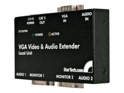 StarTech.com VGA Video Extender over Cat5 with Audio, ST122UTPA