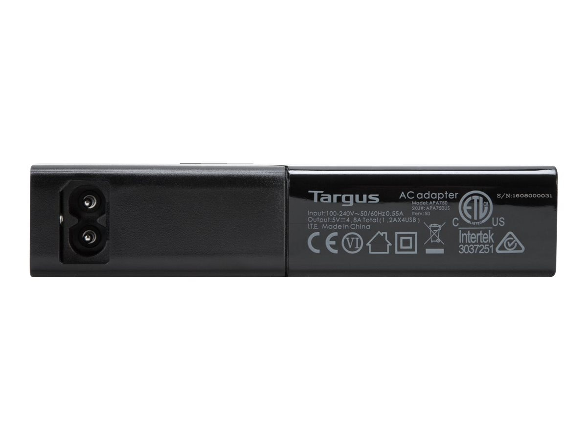 Targus USB 4-Bay International Fast Charger, APA750US