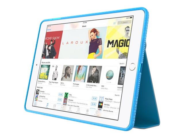 Incipio Octane Folio Co-Molded Impact Absorbing Folio for iPad Air 2, Frost Cyan, IPD-352-CYN, 31204057, Carrying Cases - Tablets & eReaders