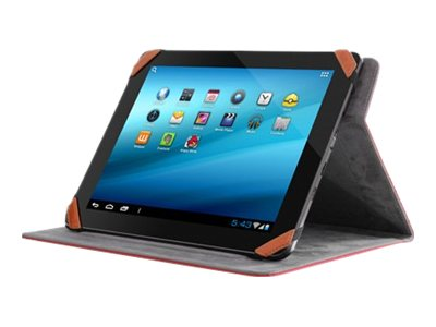 Aluratek Universal Folio Travel Case for 9.7 10 Tablet & iPads, Red, AUTC10FR