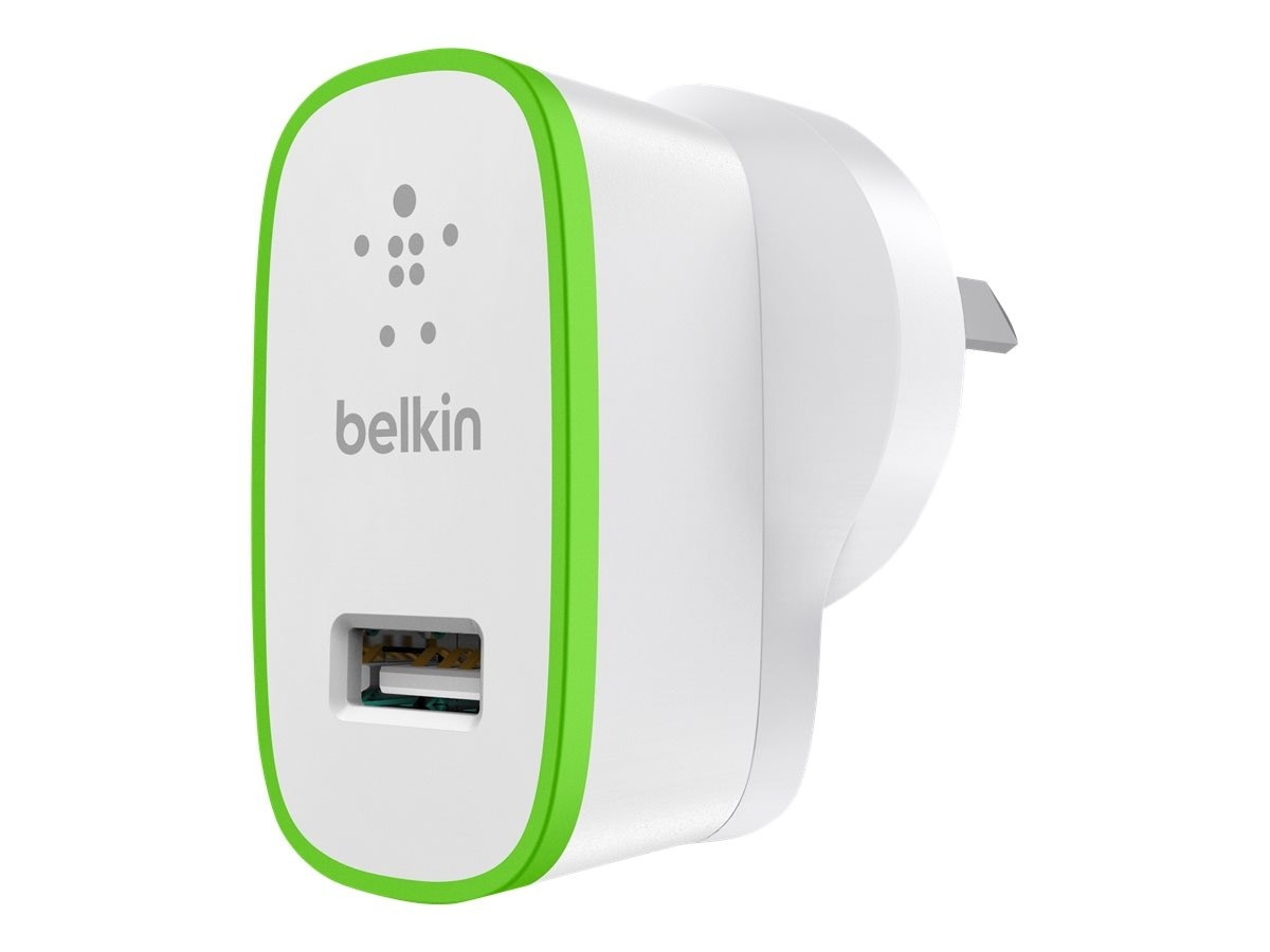 Belkin Home Charger 10 Watt 2.1 Amp, White, F8J052TTWHT, 15563201, Battery Chargers