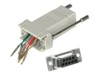 C2G RJ45 to DB9M Modular Adapter Gray, 02945, 6030690, Adapters & Port Converters