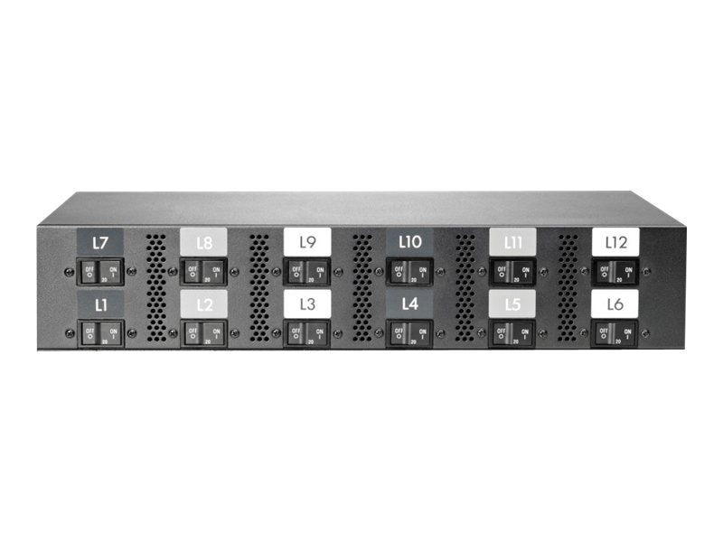 HPE Intelligent Power Distribution Unit 17.3kVA 208V 48A 3-phase (12) C19 Outlet Core NA JP, AF535A, 13754071, Power Distribution Units