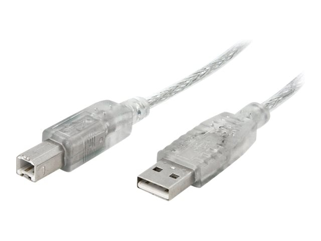 StarTech.com 6 ft Clear A to B USB 2.0 Cable - M M, USBFAB6T