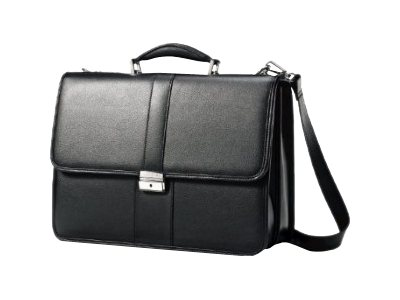Stephen Gould 15.6 Flapover Leather Business Case, 43120-1041, 15987071, Carrying Cases - Other