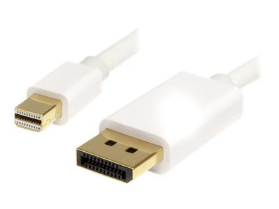 StarTech.com Mini DisplayPort to DisplayPort M M Cable, White, 2m, MDP2DPMM2MW