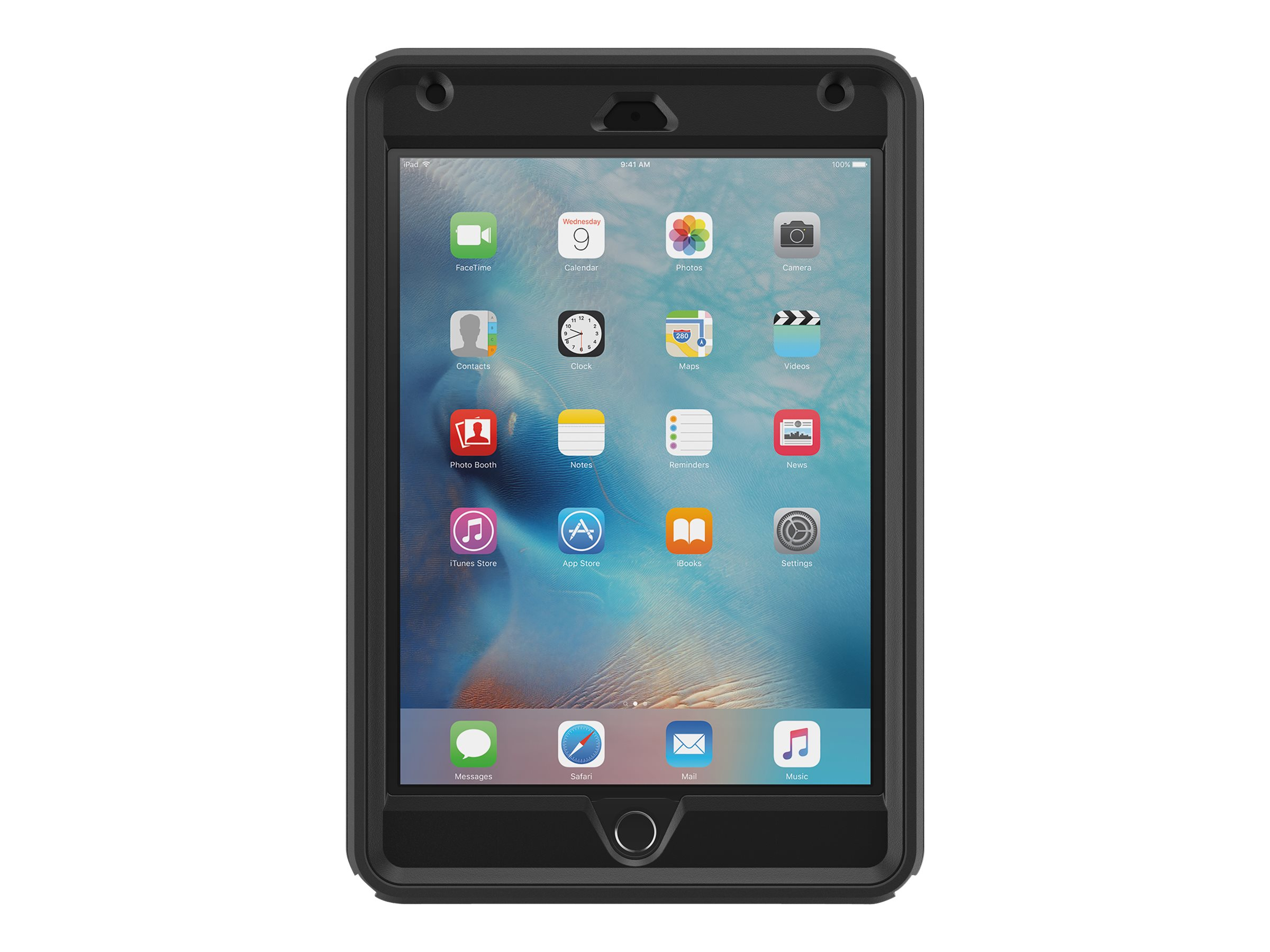 OtterBox Defender Case for iPad mini 4, Black, 77-52771, 30944643, Carrying Cases - Tablets & eReaders