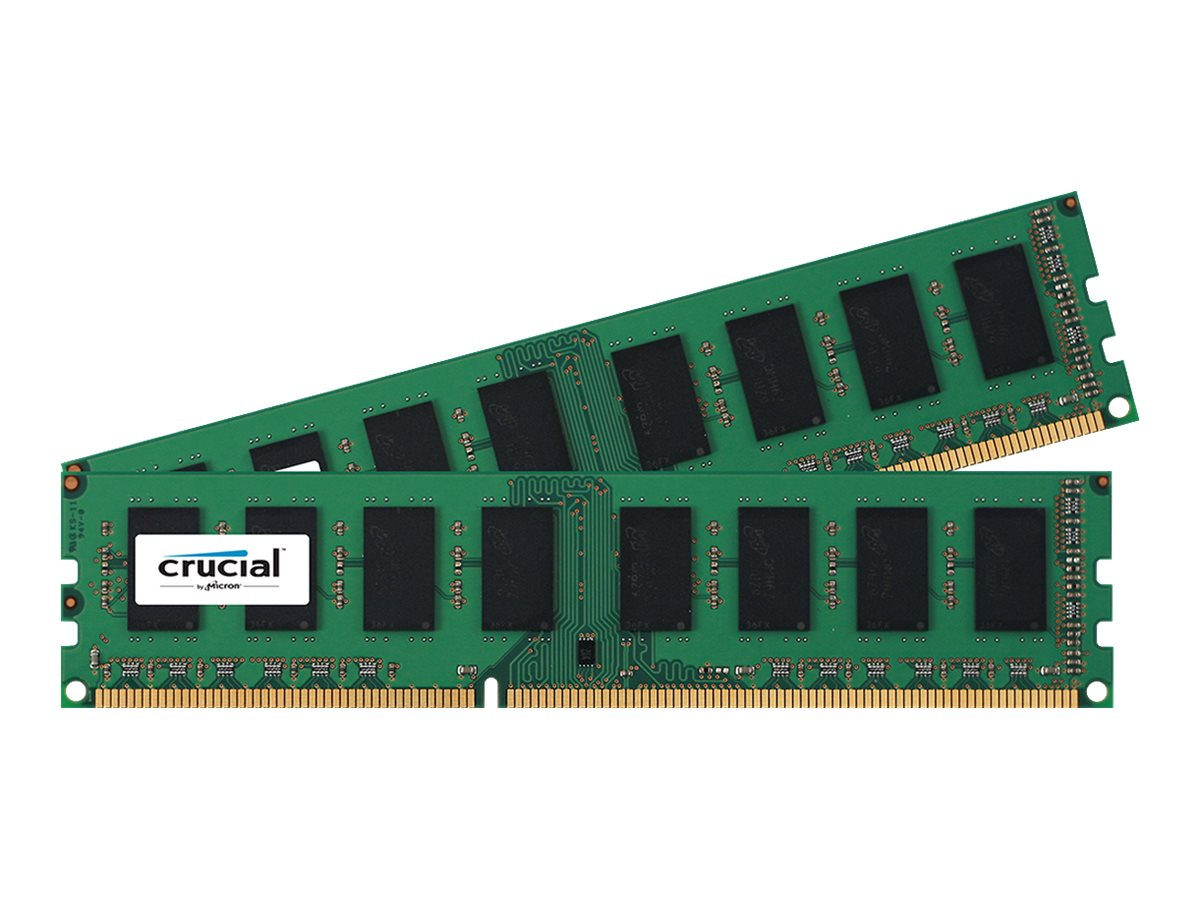Crucial 4GB PC3-12800 240-pin DDR3 SDRAM DIMM Kit, CT2K25664BA160BA, 17634122, Memory