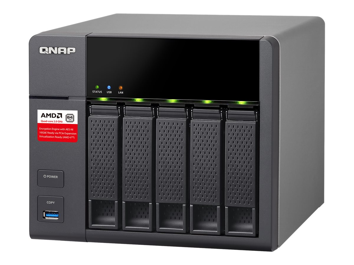Qnap TS563 5-Bay AMD 64bit X86-Based NAS, TS-563-8G-US, 30891828, Network Attached Storage