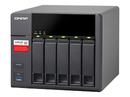 Qnap 5-Bay AMD X86-Based NAS with 2GB RAM, TS-563-2G-US, 26980828, Network Attached Storage