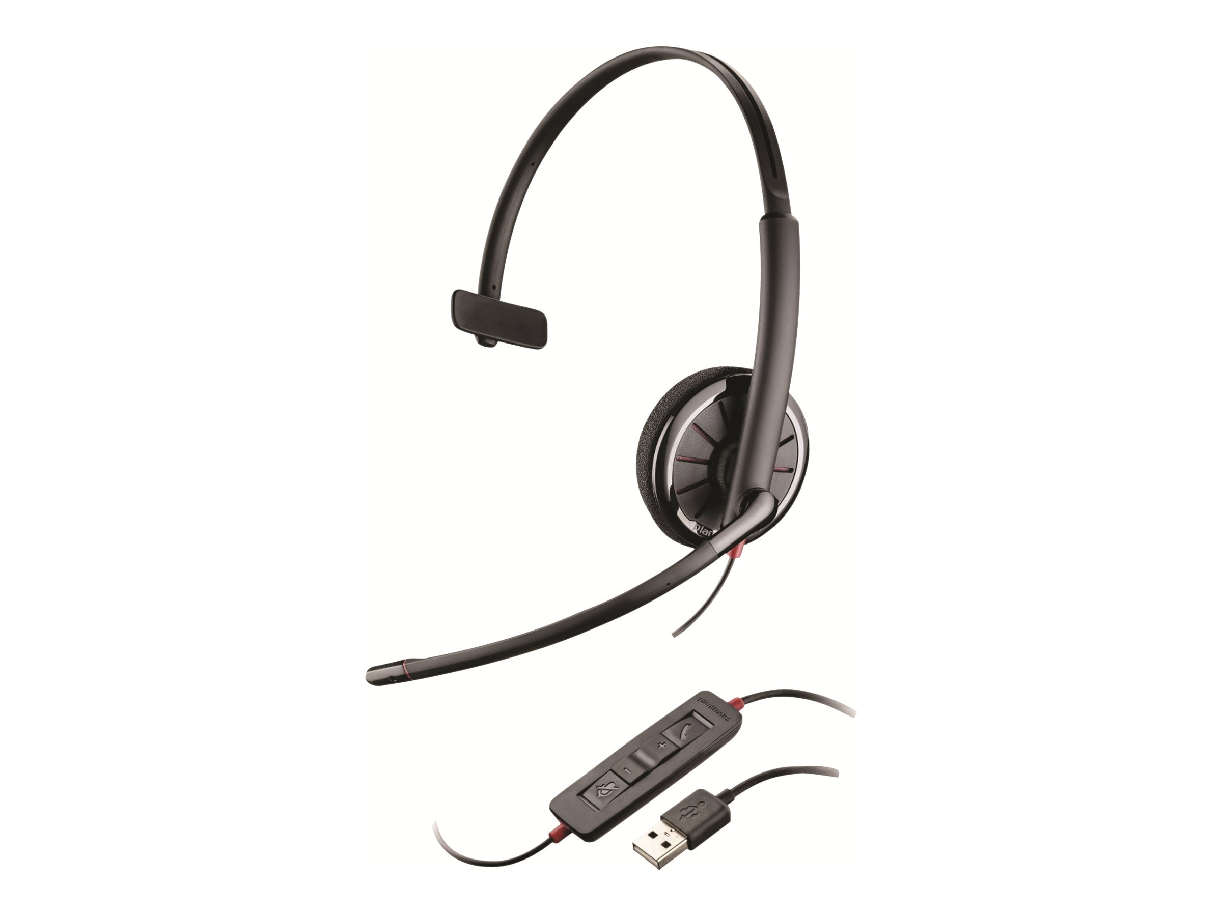 Plantronics BlackWire C310 Monaural Headset for PC Computers, 85618-101