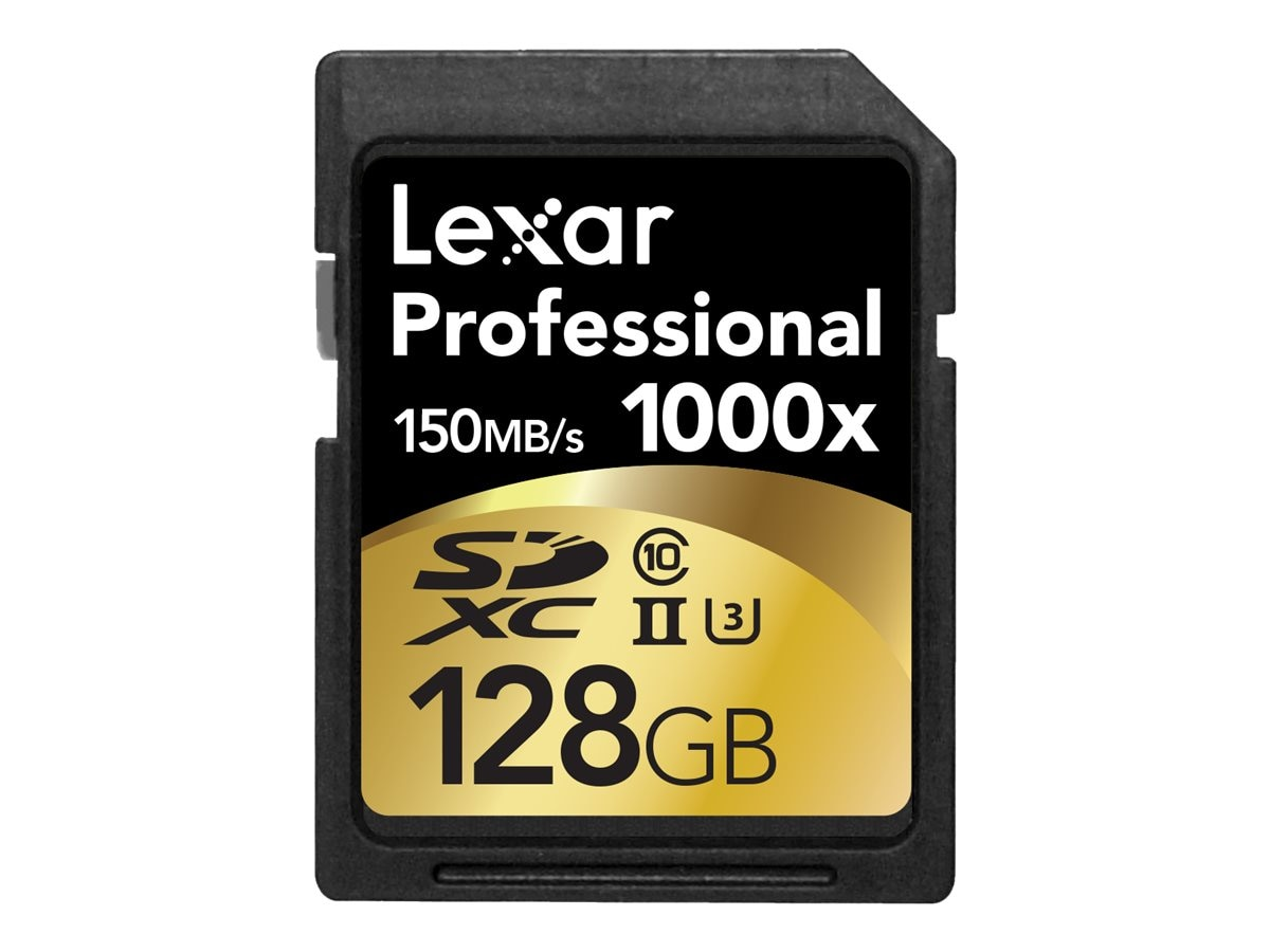 Lexar 128GB Professional 1000X SDXC Flash Memory Card, Class 10, 2-Pack, LSD128CRBNA10002