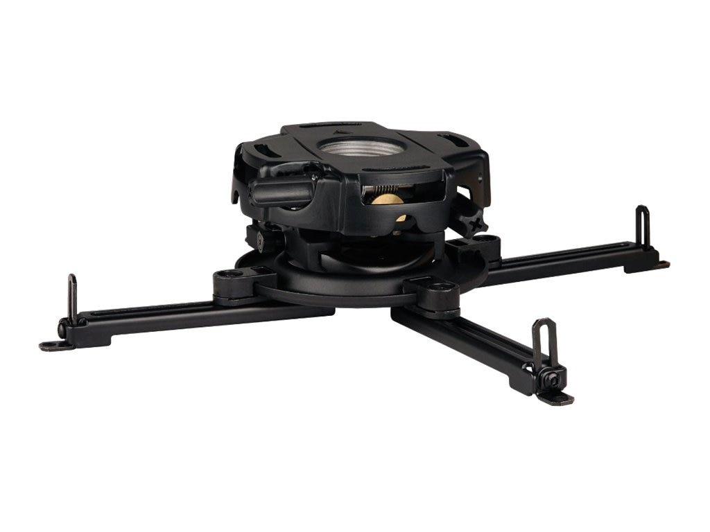 Peerless PRG Precision Projector Mount with Spider Universal Adaptor Plate for Projectors up to 50 Pounds, PRG-UNV