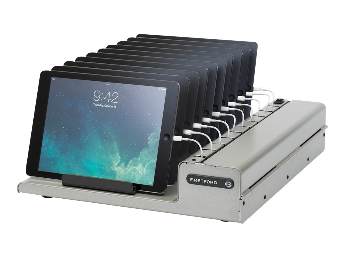 Bretford Manufacturing 10-Unit PowerRack for iPad, iPad Mini Store and Charge Cart
