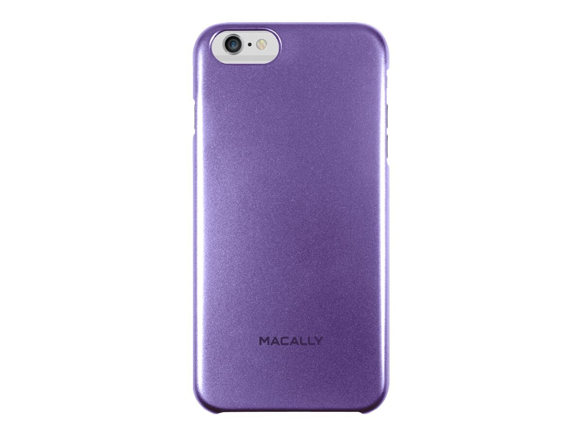 Macally Metallic Snap-On Case for iPhone 6, Purple, SnapP6LPU, 17923645, Carrying Cases - Phones/PDAs