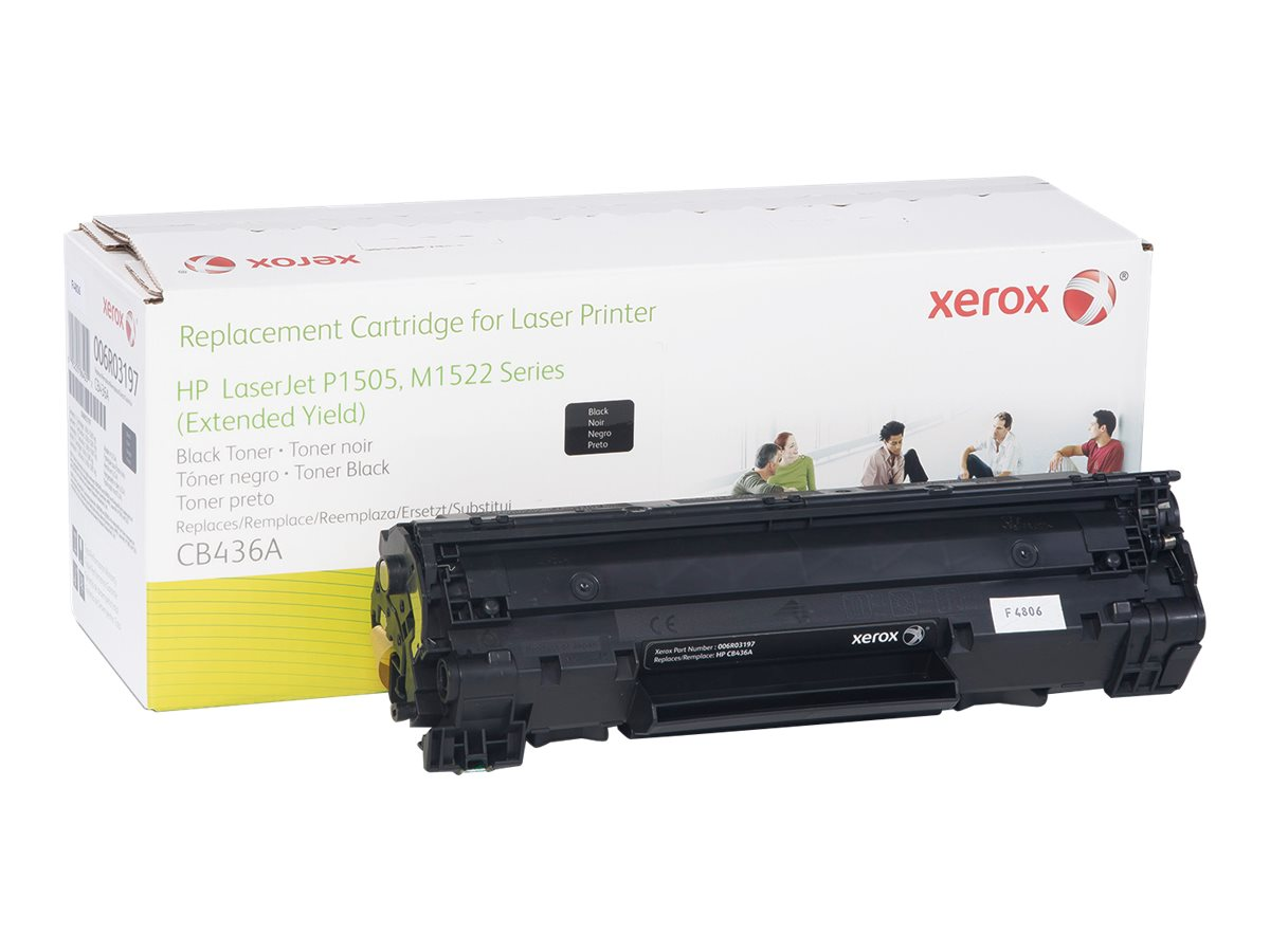 Xerox CB436A Black Extended Yield Toner Cartridge for HP LaserJet M1522 & P1505 Series, 006R03197