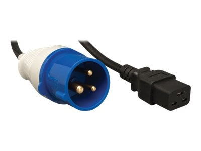Tripp Lite Power Cord IEC309 to C19 2P+G 250V 16A 10ft, P070-010, 15163742, Power Cords