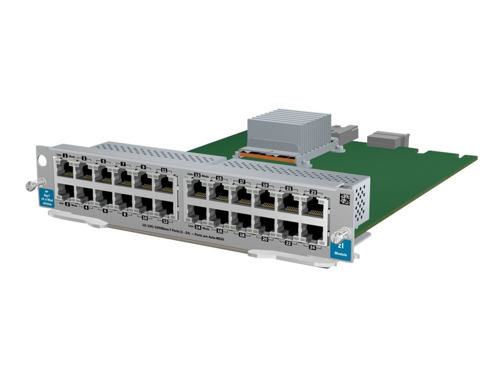 HPE 24-port Gig-T v2 ZL Module, J9550A, 12230049, Network Device Modules & Accessories