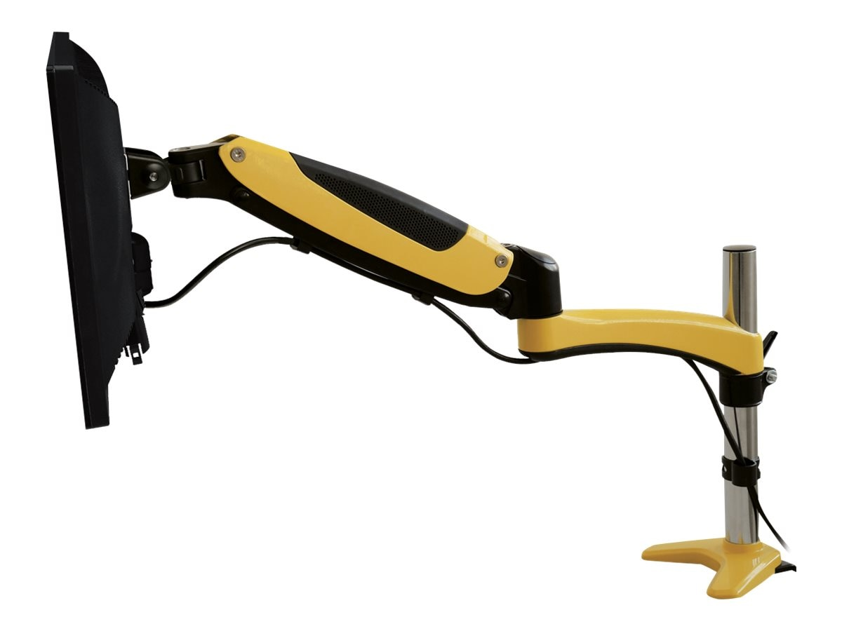Siig Full-Motion Easy Access Single Monitor Desk Mount, Yellow