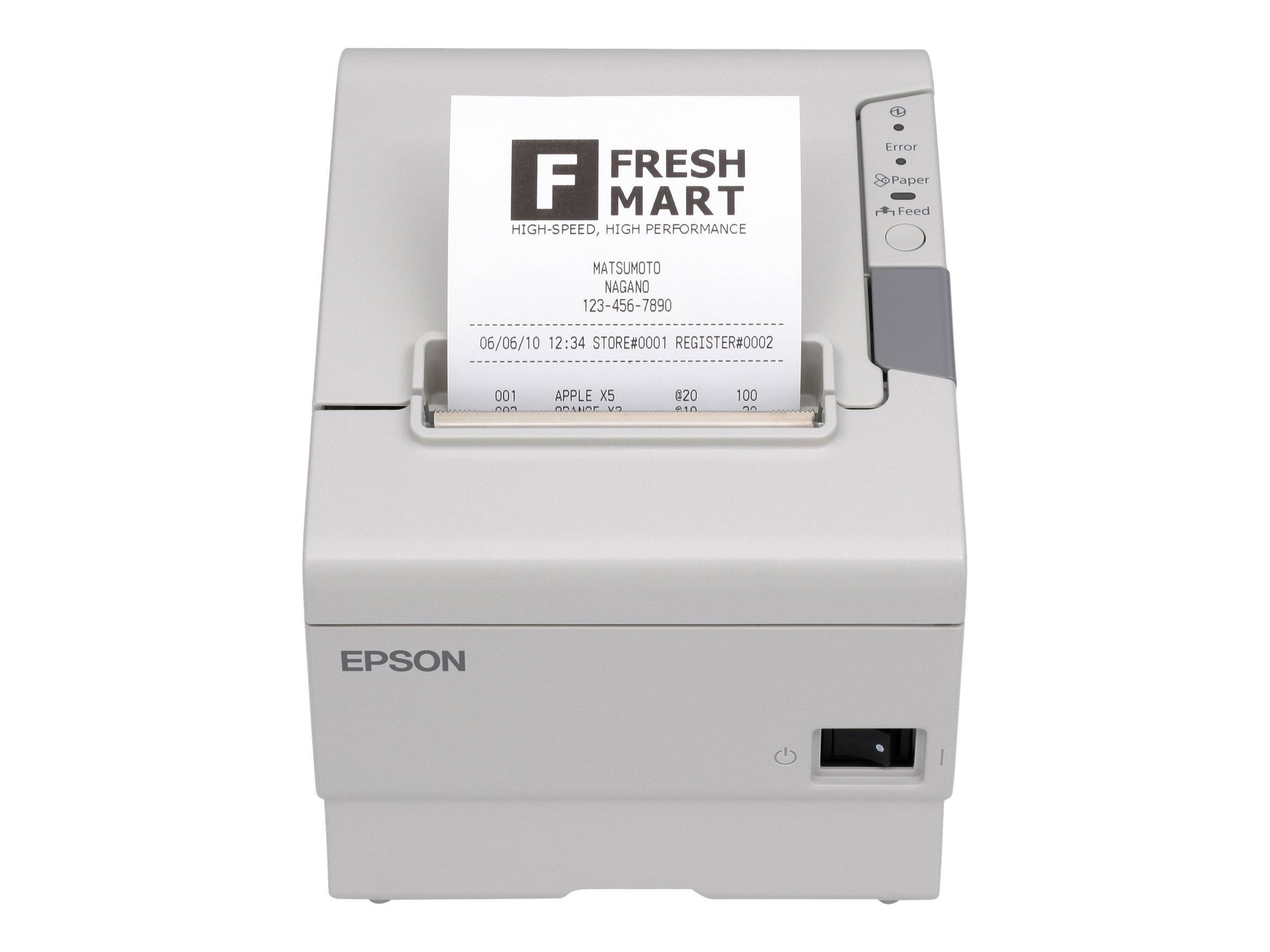 Open Box Epson TM-T88V-I OmniLink PC ECW TM-I Tank 80mm IOS Android CE Printer w  US Power, C31CA85790