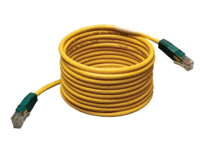 Tripp Lite Cat5e RJ-45 M M Molded Cross-over Patch Cable, Yellow, 25ft, N010-025-YW, 13004465, Cables