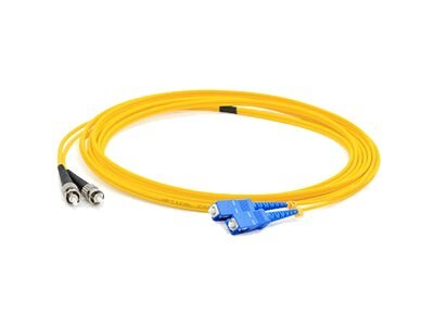 ACP-EP ST-SC OS1 Singlemode Fiber Patch Cable, Yellow, 8m, ADD-ST-SC-8M9SMF