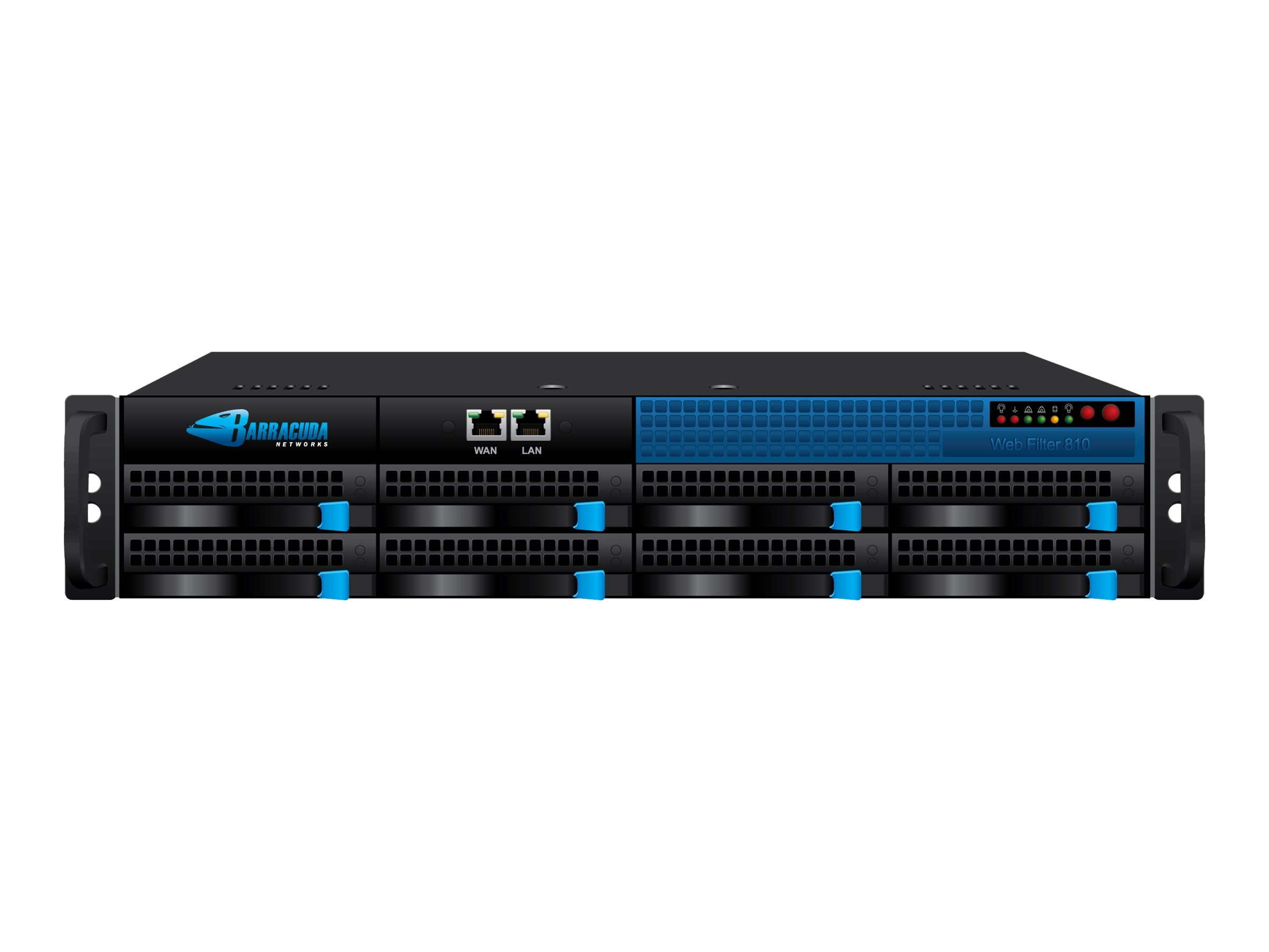 Barracuda Web Filter 810 with 1 Year Energize Updates, BYF810A1, 7612843, Network Security Appliances