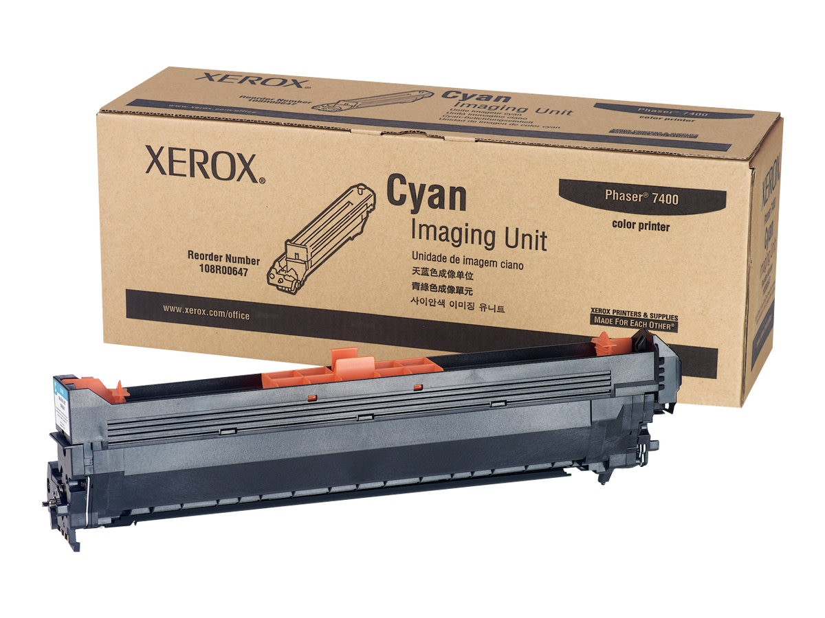 Xerox Cyan Imaging Unit for Phaser 7400 Printers, 108R00647, 31197862, Toner and Imaging Components