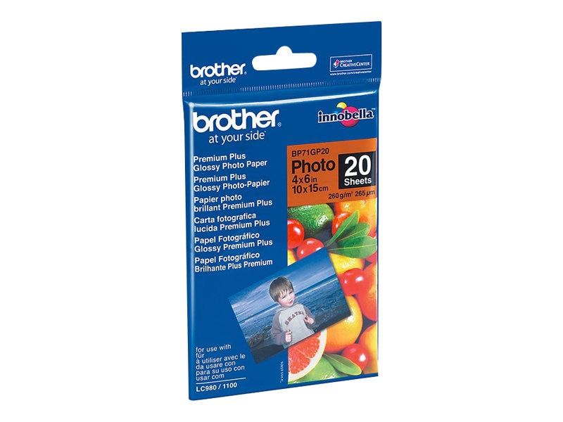 Brother 4 x 6 Glossy Paper (20-Sheets)